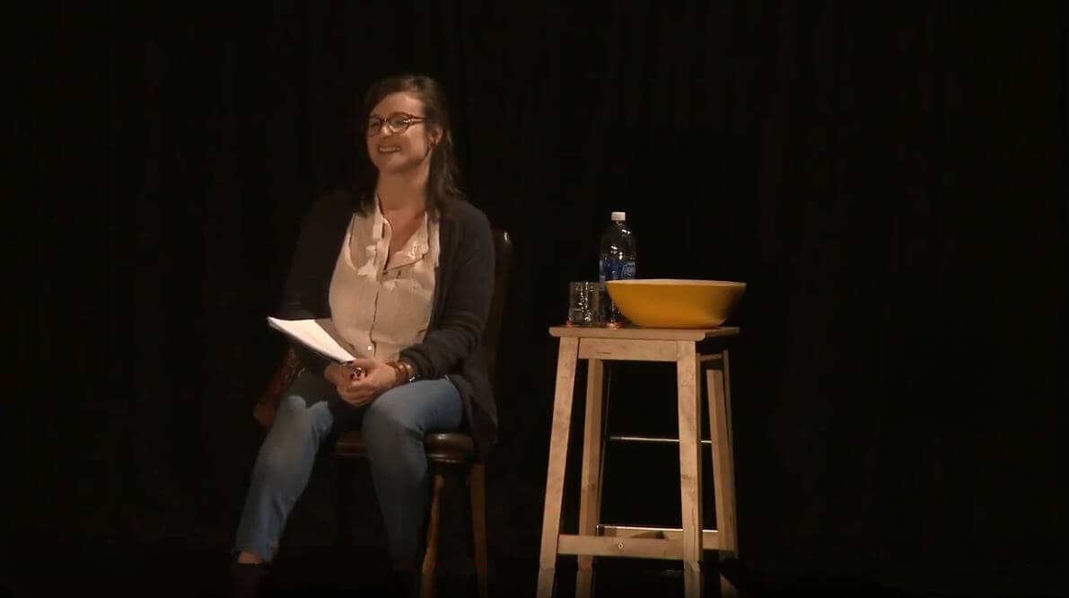 La comédienne Marie-Joanne Boucher.