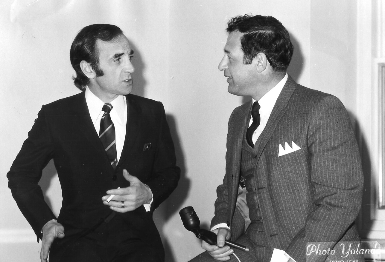 Charles Aznavour et Jean Brisson.