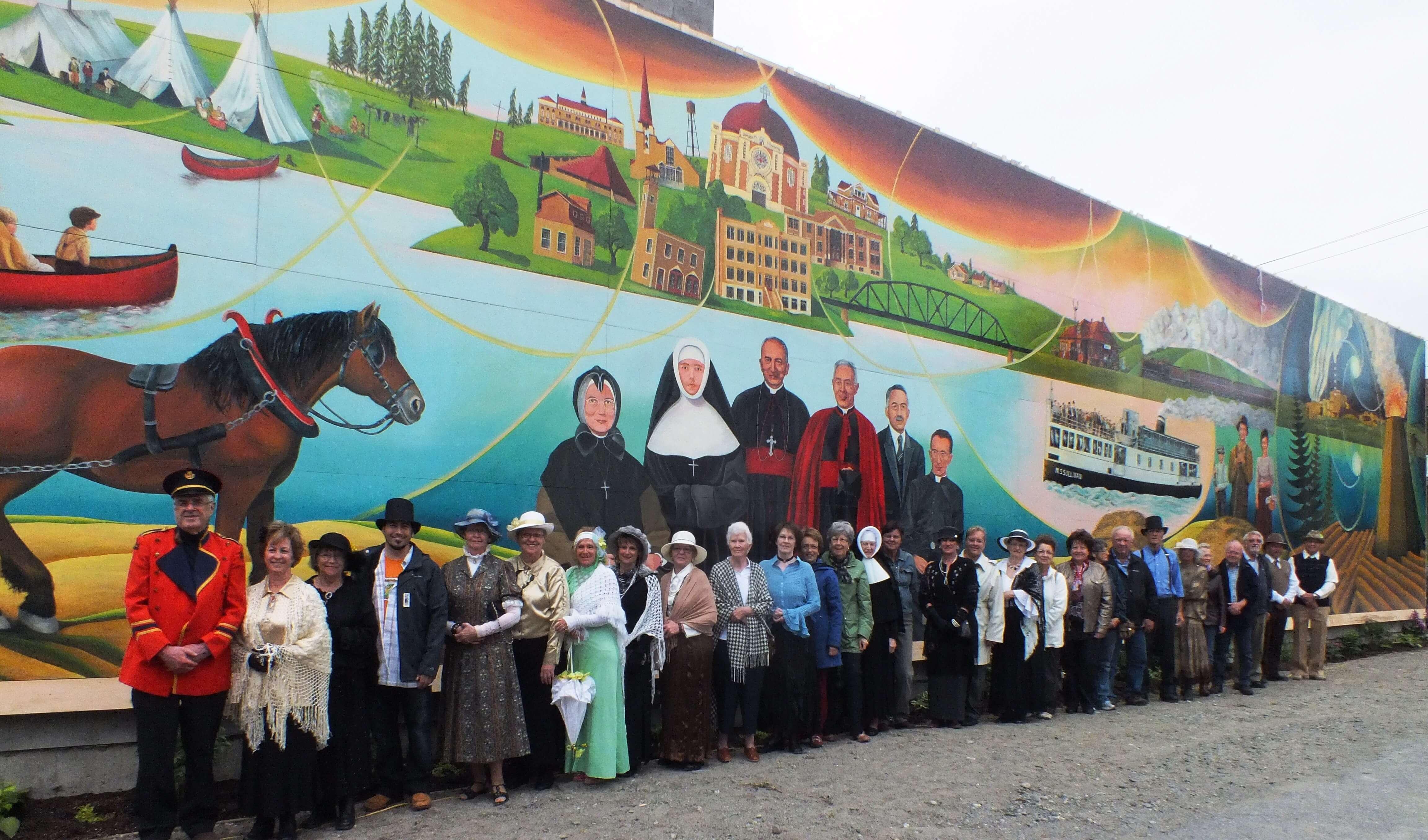 Fresque Amos inauguration