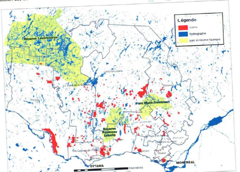 Mine Graphite Outaouais Laurentides et Lanaudière