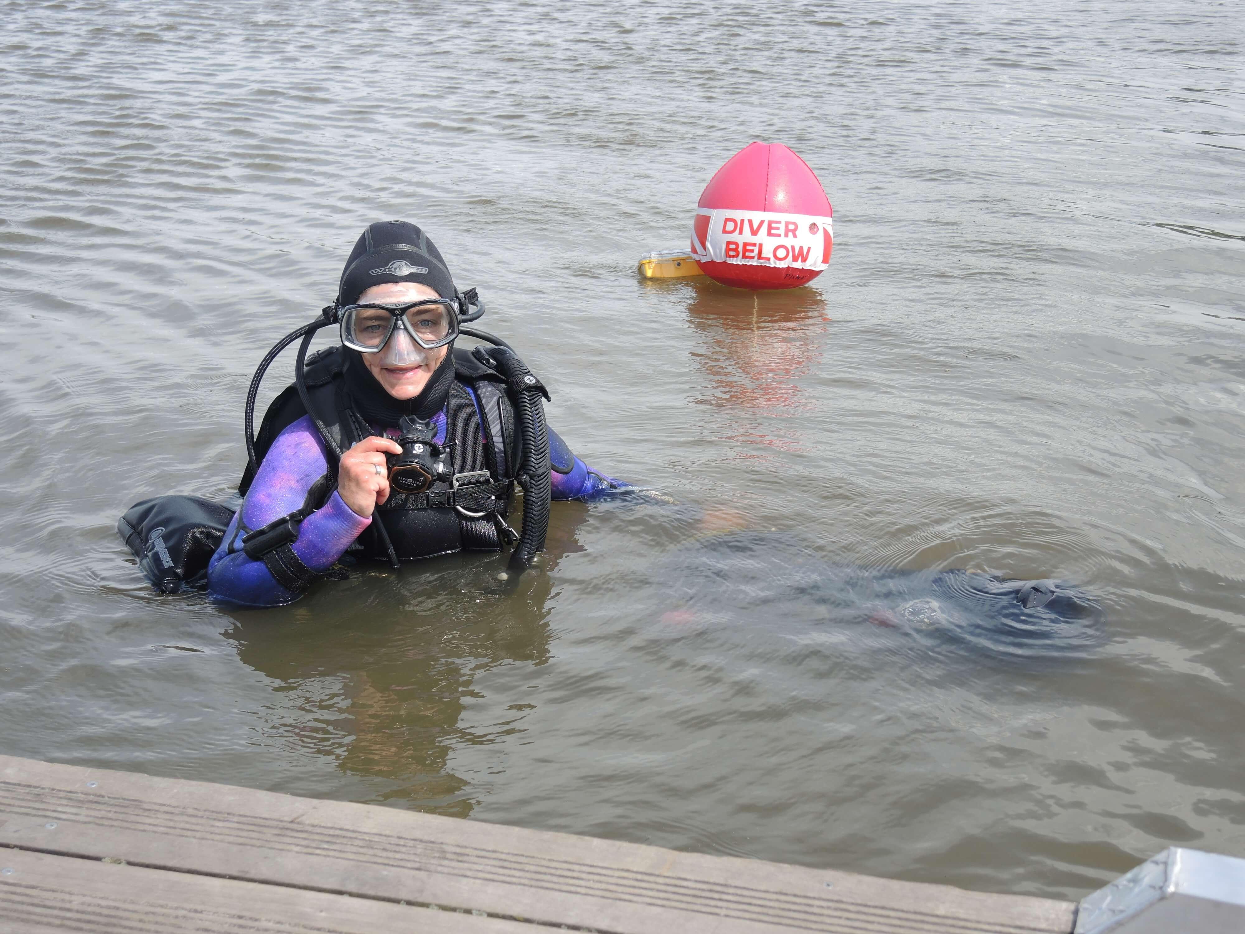 Nathalie Lasselin plongeuse