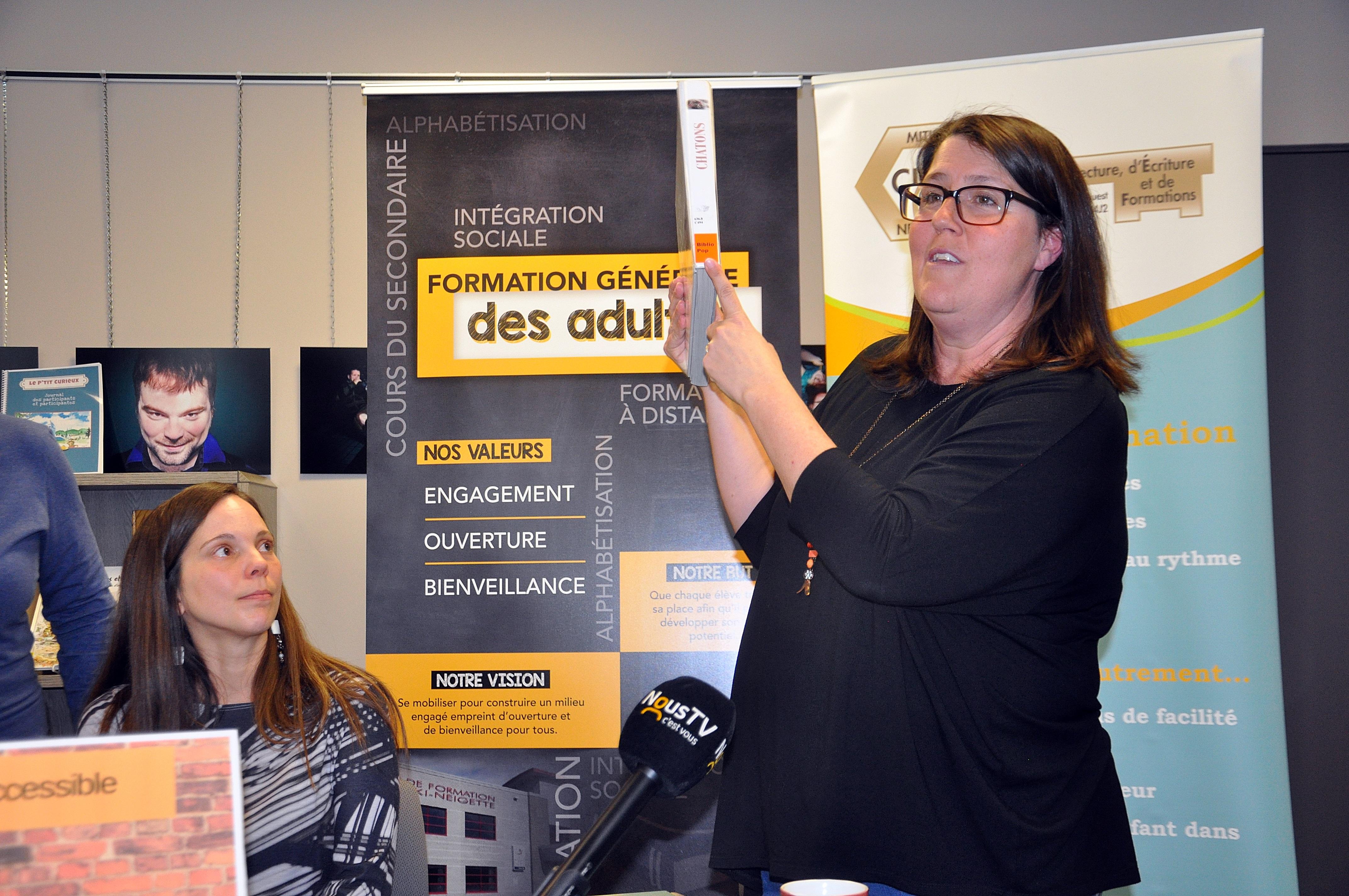 La coordonnatrice pour les bibliothèques de Rimouski, Martine Fournier,