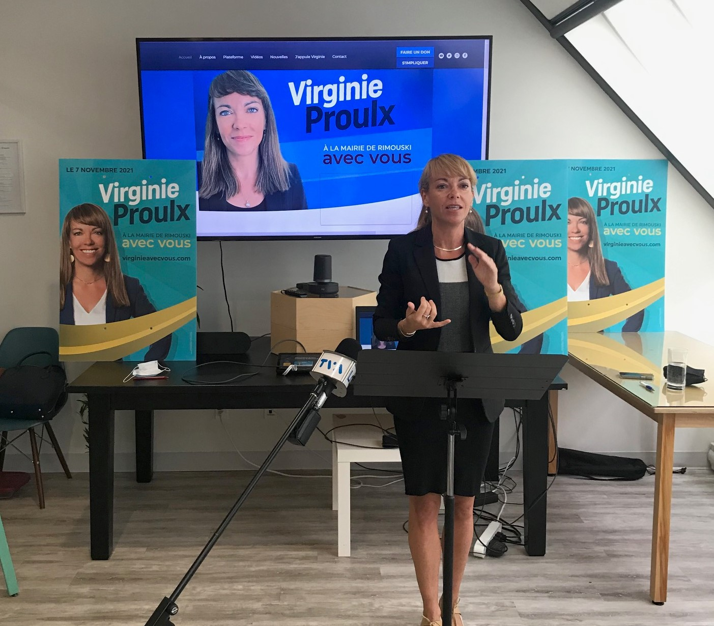 La candidate à la mairie de Rimouski et conseillère municipale dans le district du Bic, Virginie Proulx.
