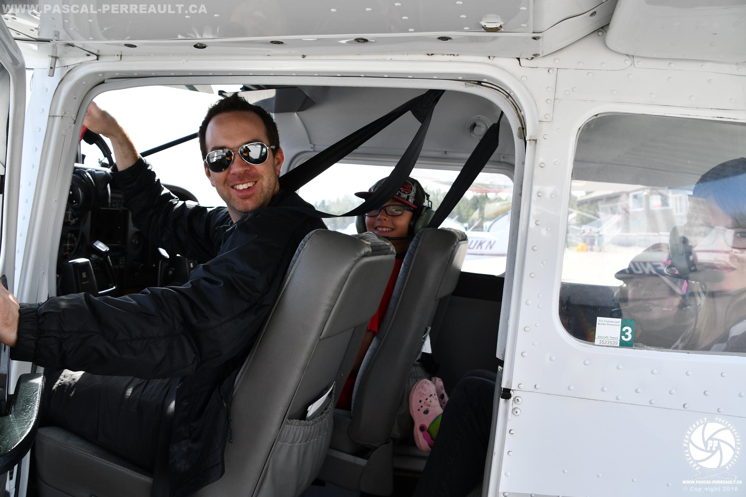 Simon Chouinard pilote bapteme air Amos