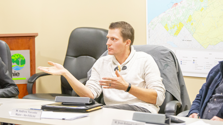Andrew Turcotte préfet Matanie maire de Sainte-Félicité