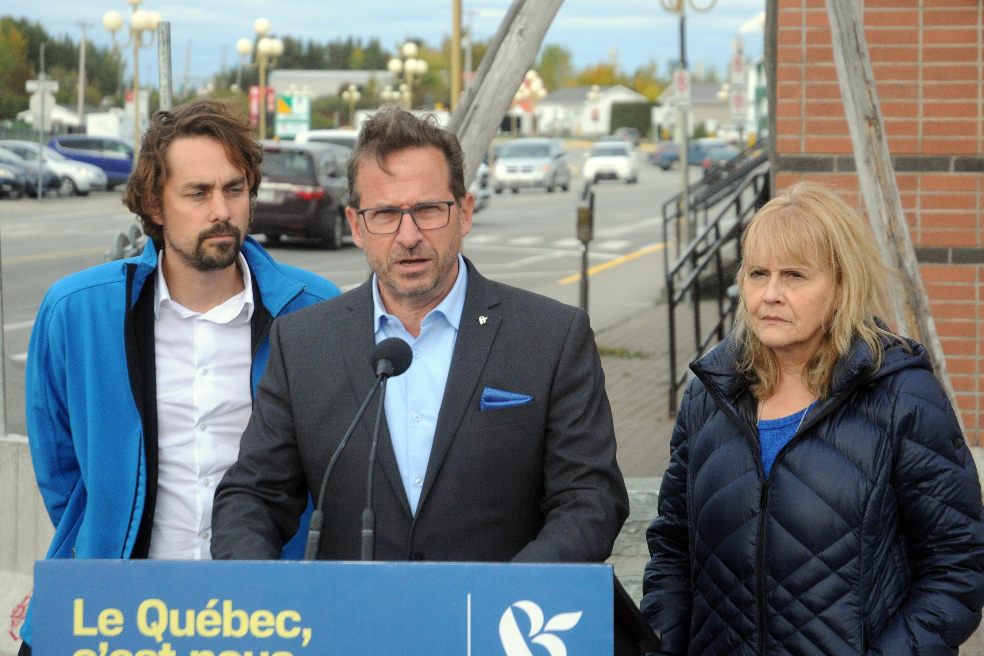 Sébastien Lemire, Yves-François Blanchet, Sylvie Bérubé - Bloc Québécois