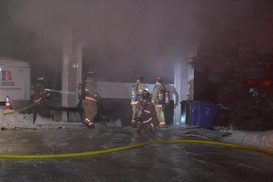 Incendie garage L'Assomption