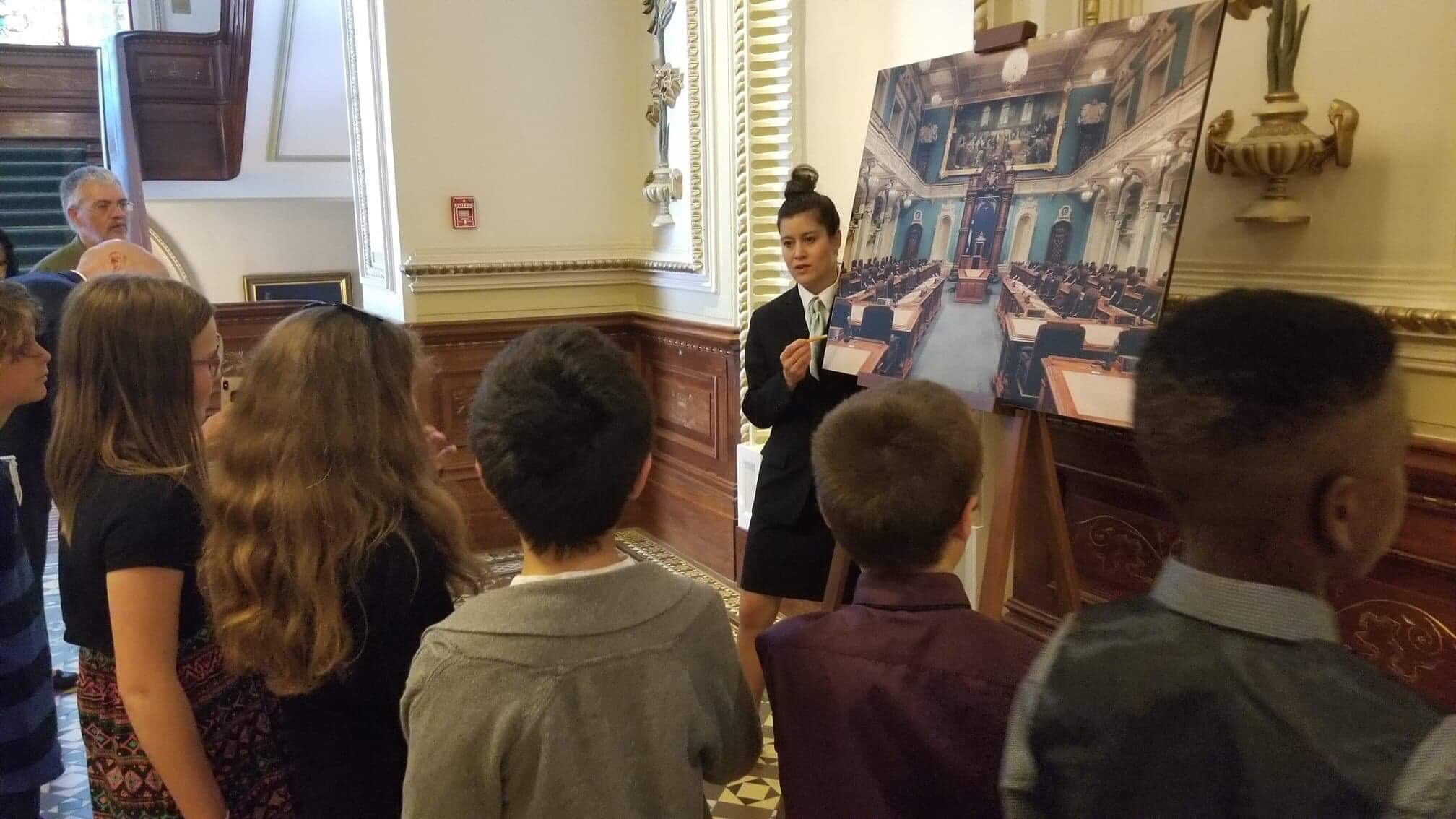 Visite guidée à l'Assemblée nationale.