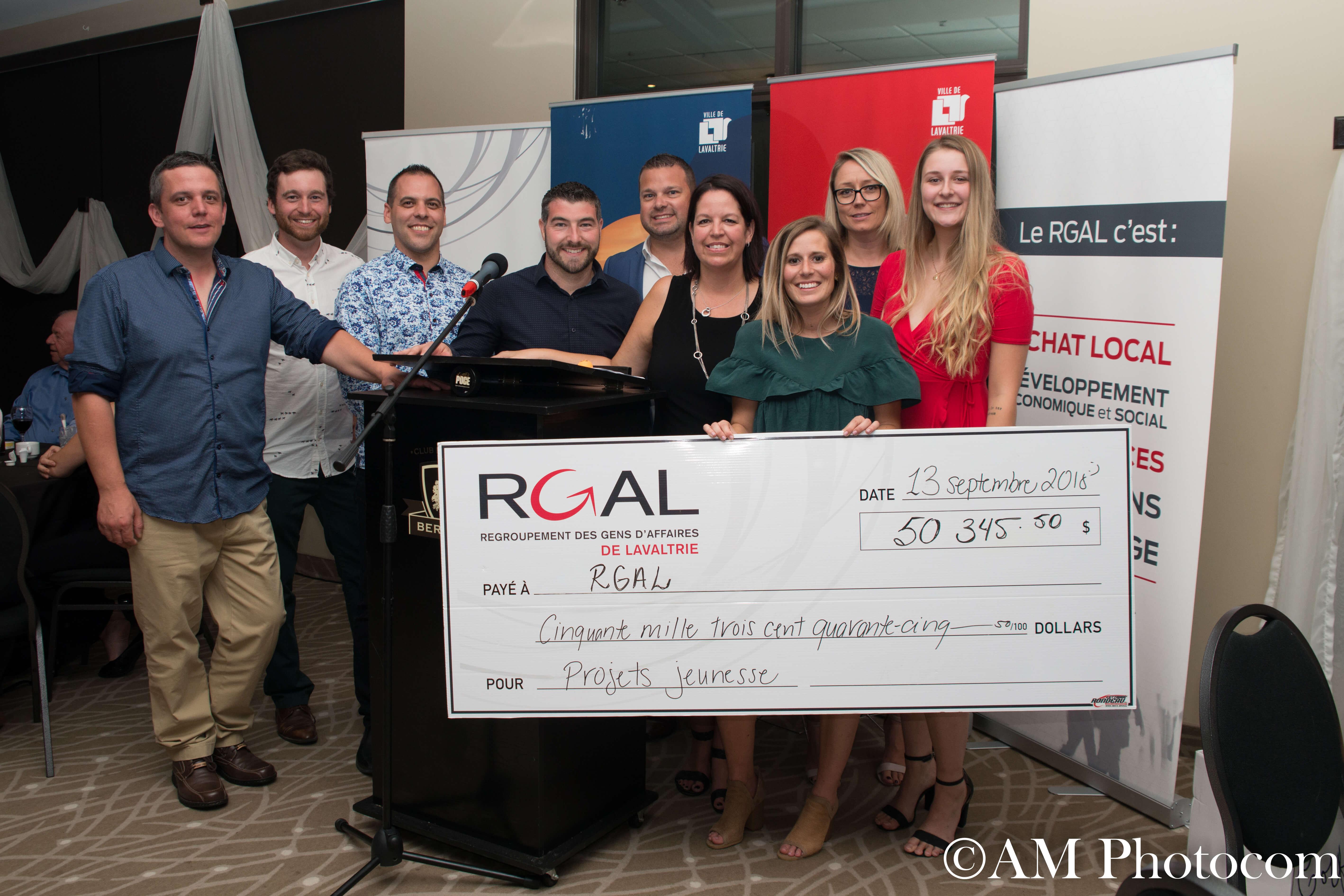 Plus de 50 000$ amassés pour la jeunesse et l'avancement de Lavaltrie