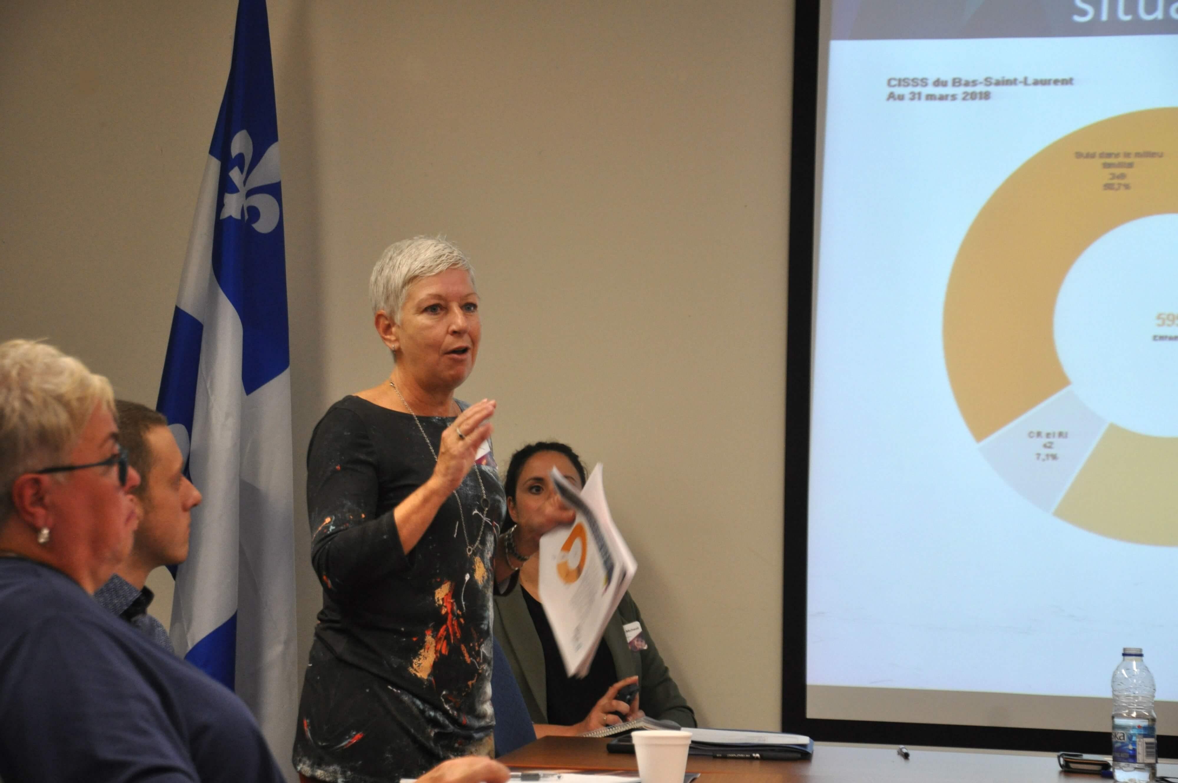 La directrice de la protection de la jeunesse par intérim du CISSS du Bas-Saint- Laurent.