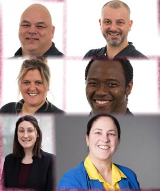 Les membres du comité organisateur : Éric Avon, Émilie St-Pierre, Catherine Lussier, Sébastien Noël, Ozias Freddy Metohoue et Josée Longchamps.