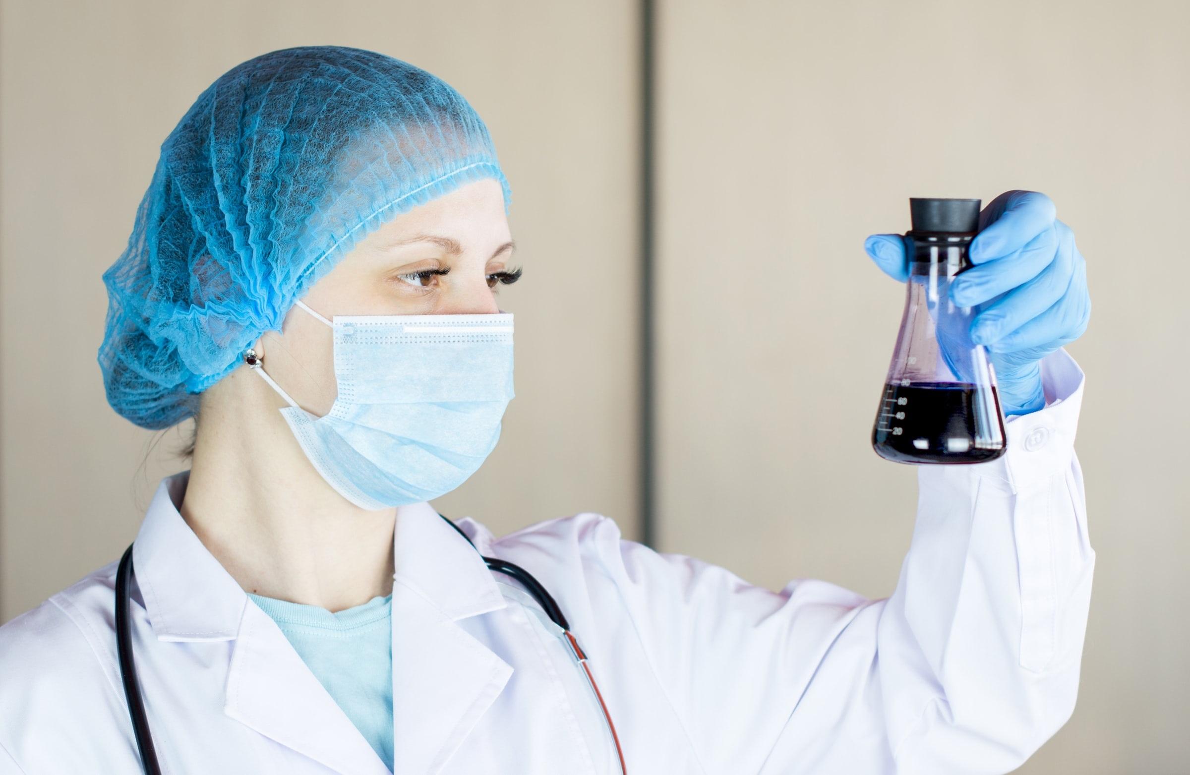 Laboratoire, chercheur, science, COVID-19.
