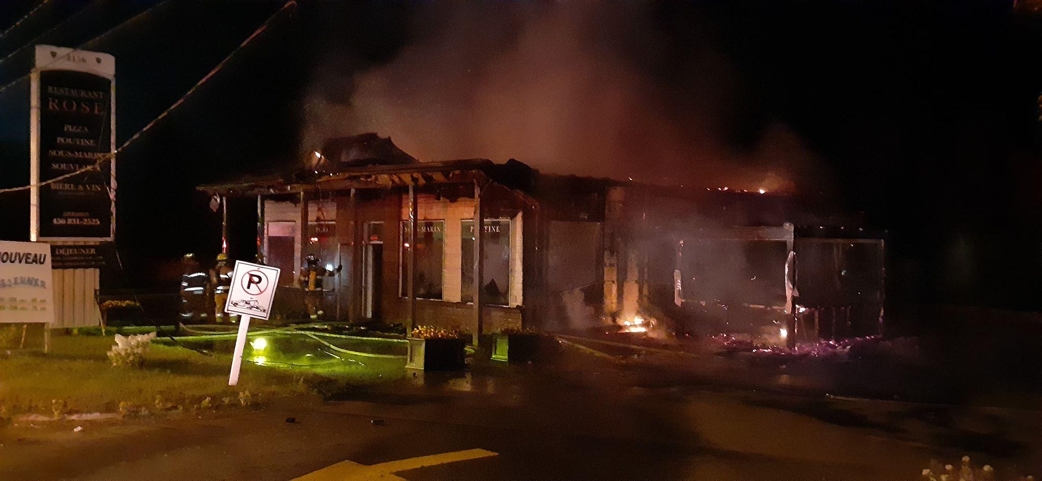 Incendie Restaurant Rose