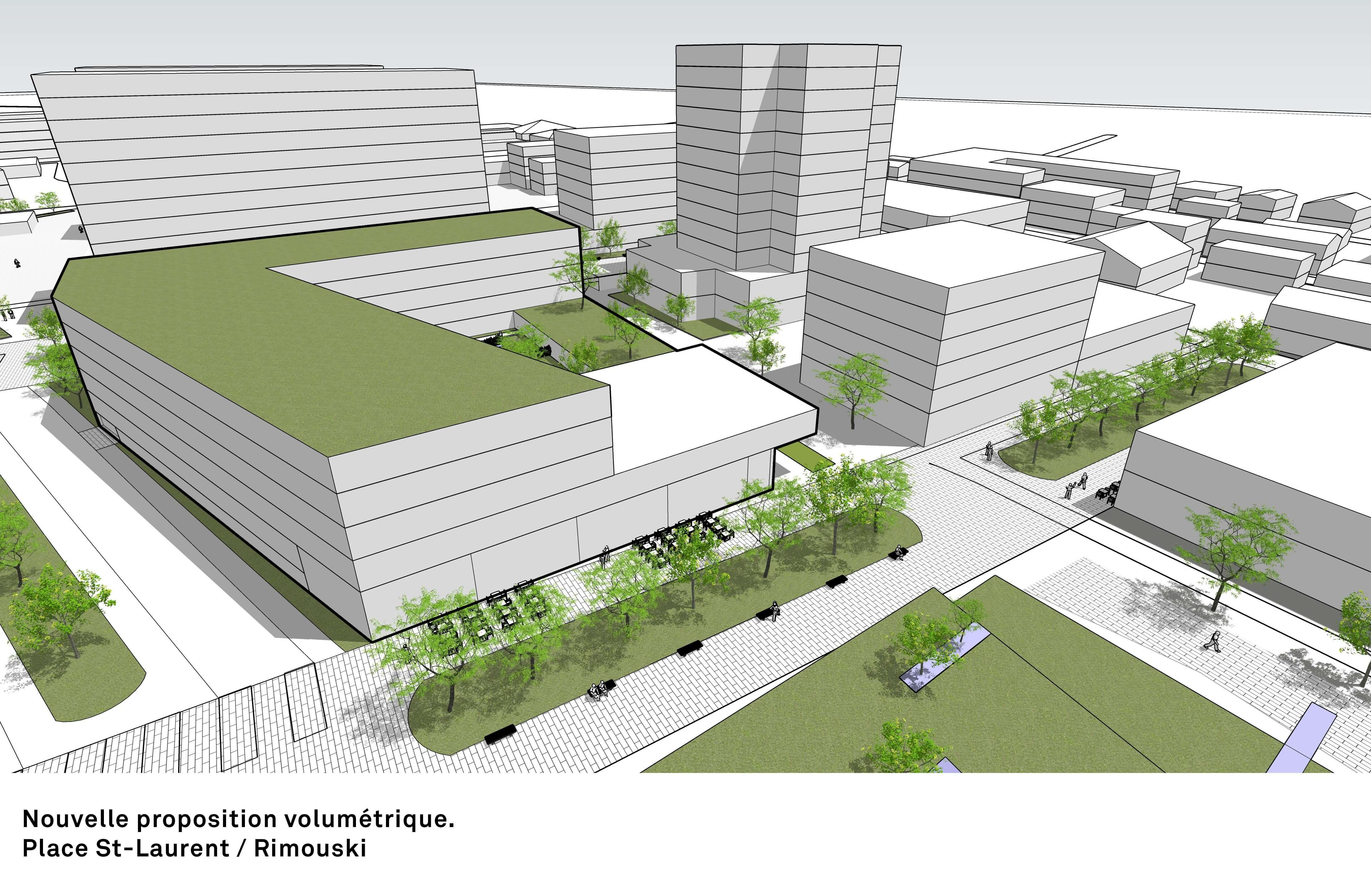 Nouvelle proposition volumétrique pour le projet de remplacement de la Grande Place