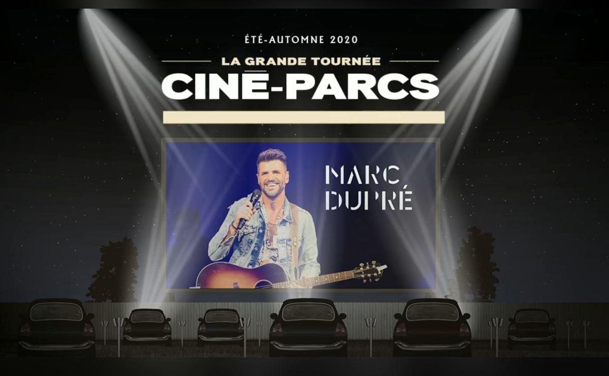 Marc Dupré ciné-parc