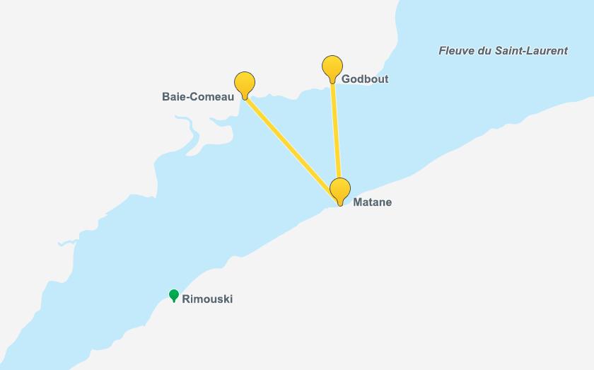 Traverne Matane Côte-Nord