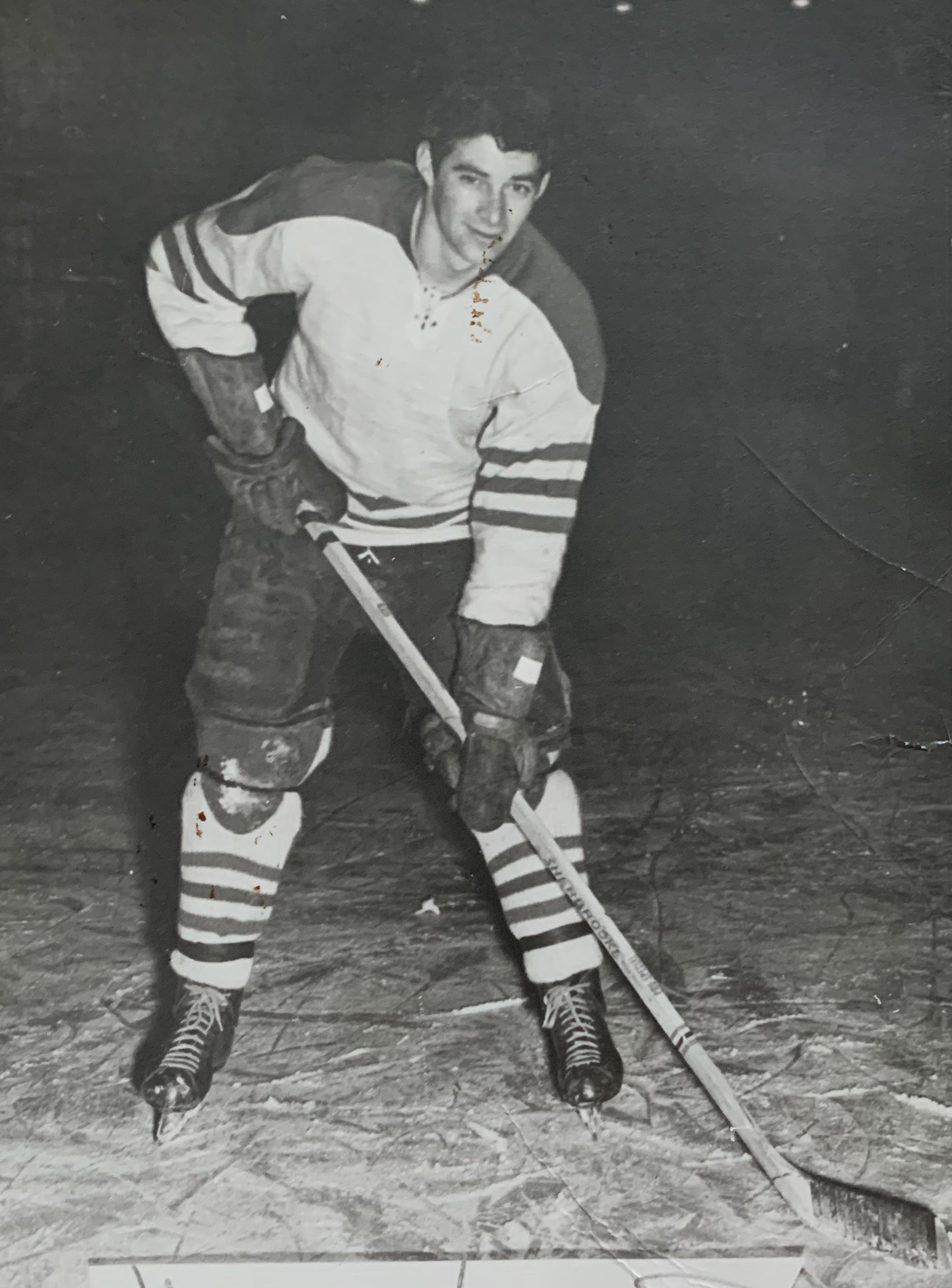 René Arseneault patine depuis qu'il a 7 ans.