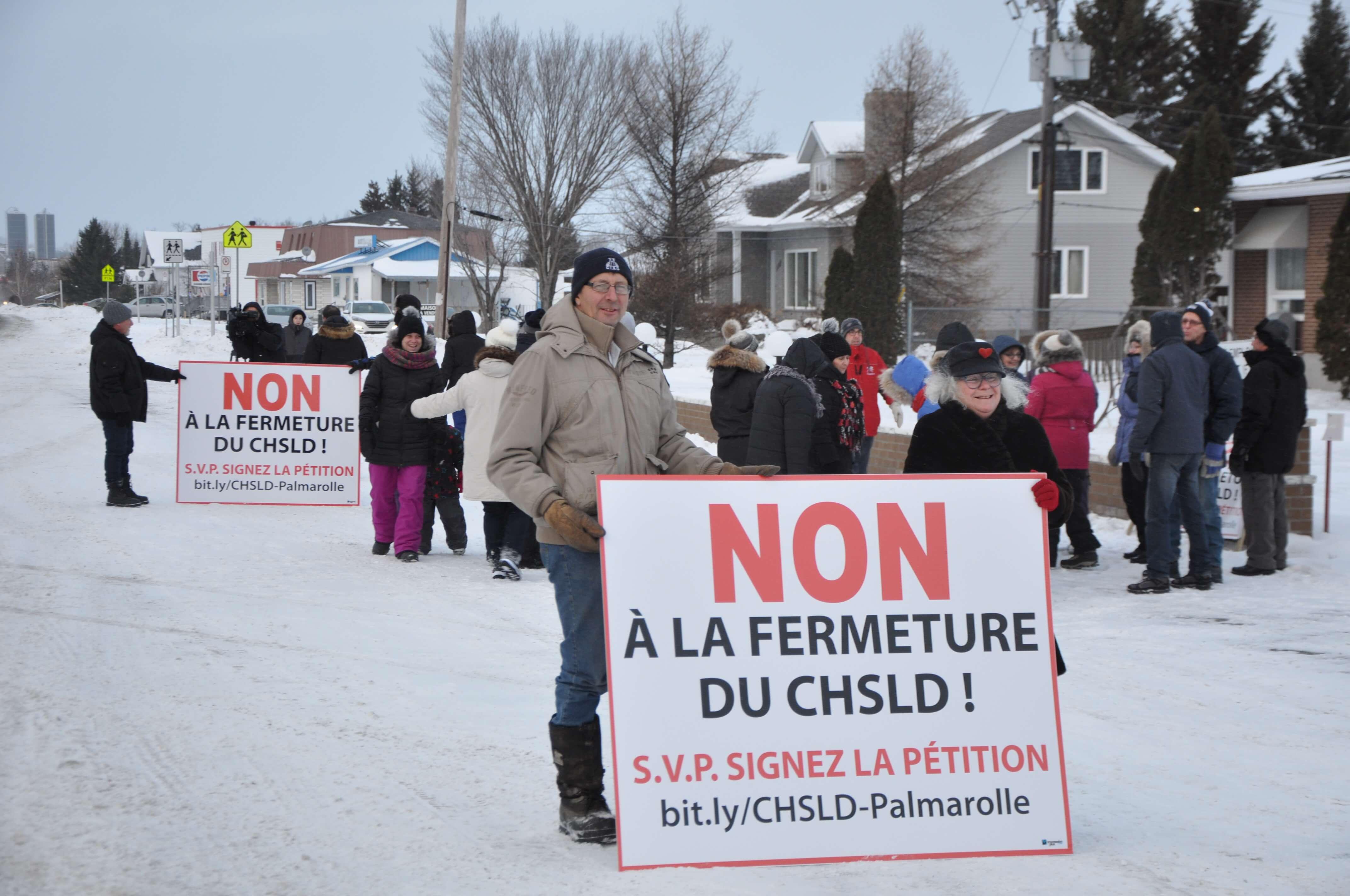 Manifestation palmarolle CHSLD