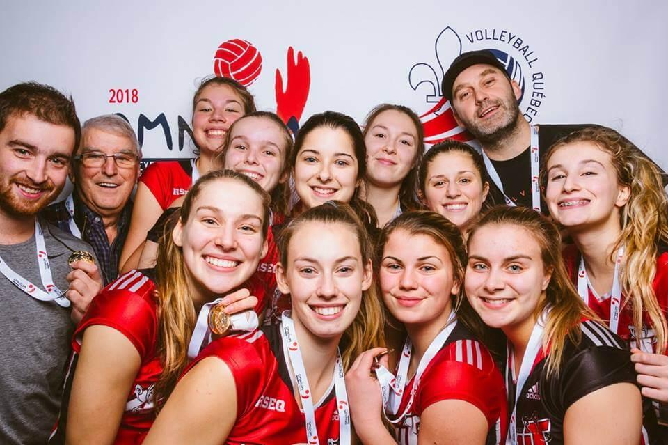Équipe volleyball assaut