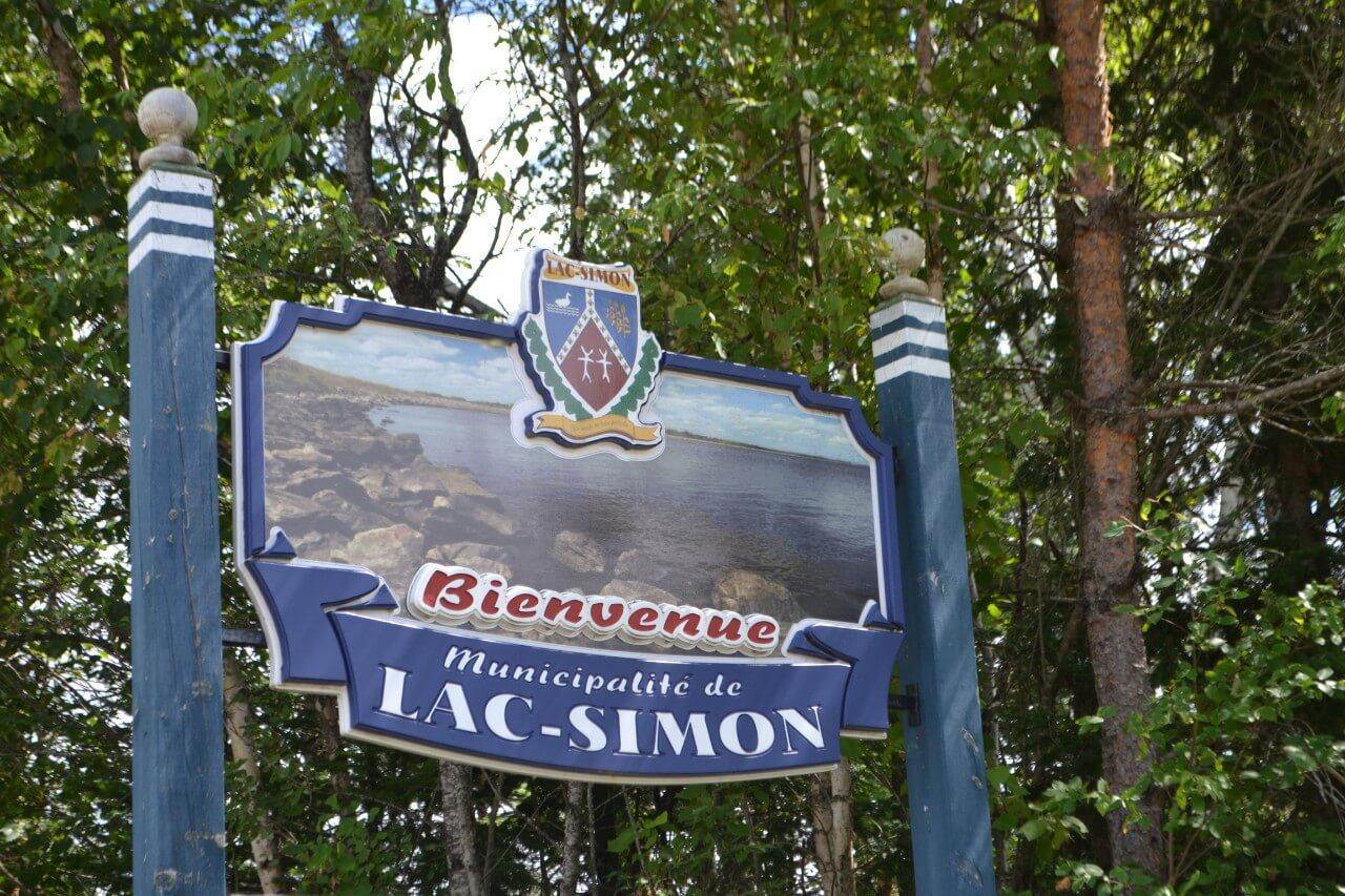 Lac-Simon panneau
