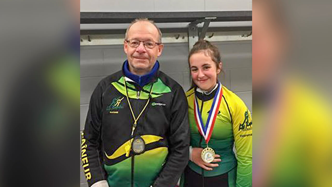Mathilde Landry Viateur Charest patinage vitesse Les Rapidos Matane