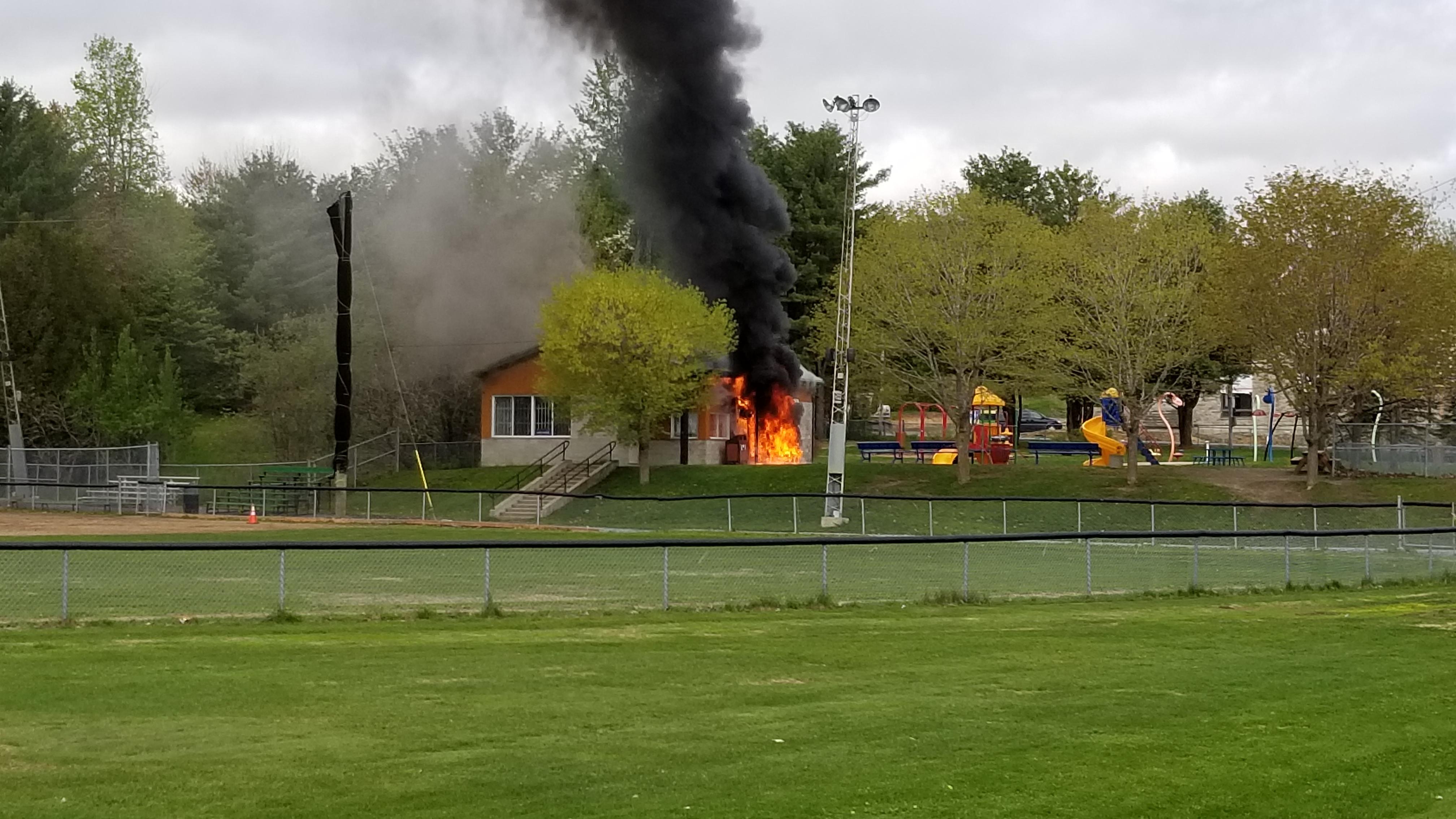 Incendie parc des Quatre-vents