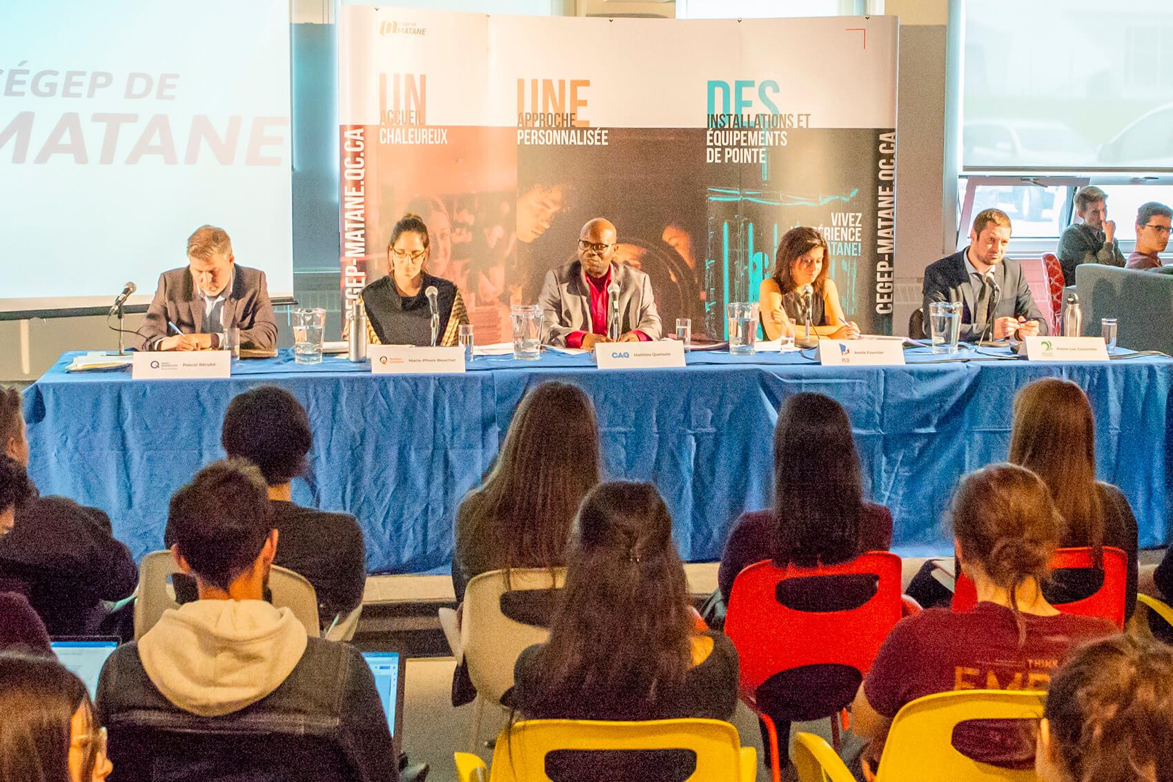 élections provinciales 2018 débat Cégep Matane