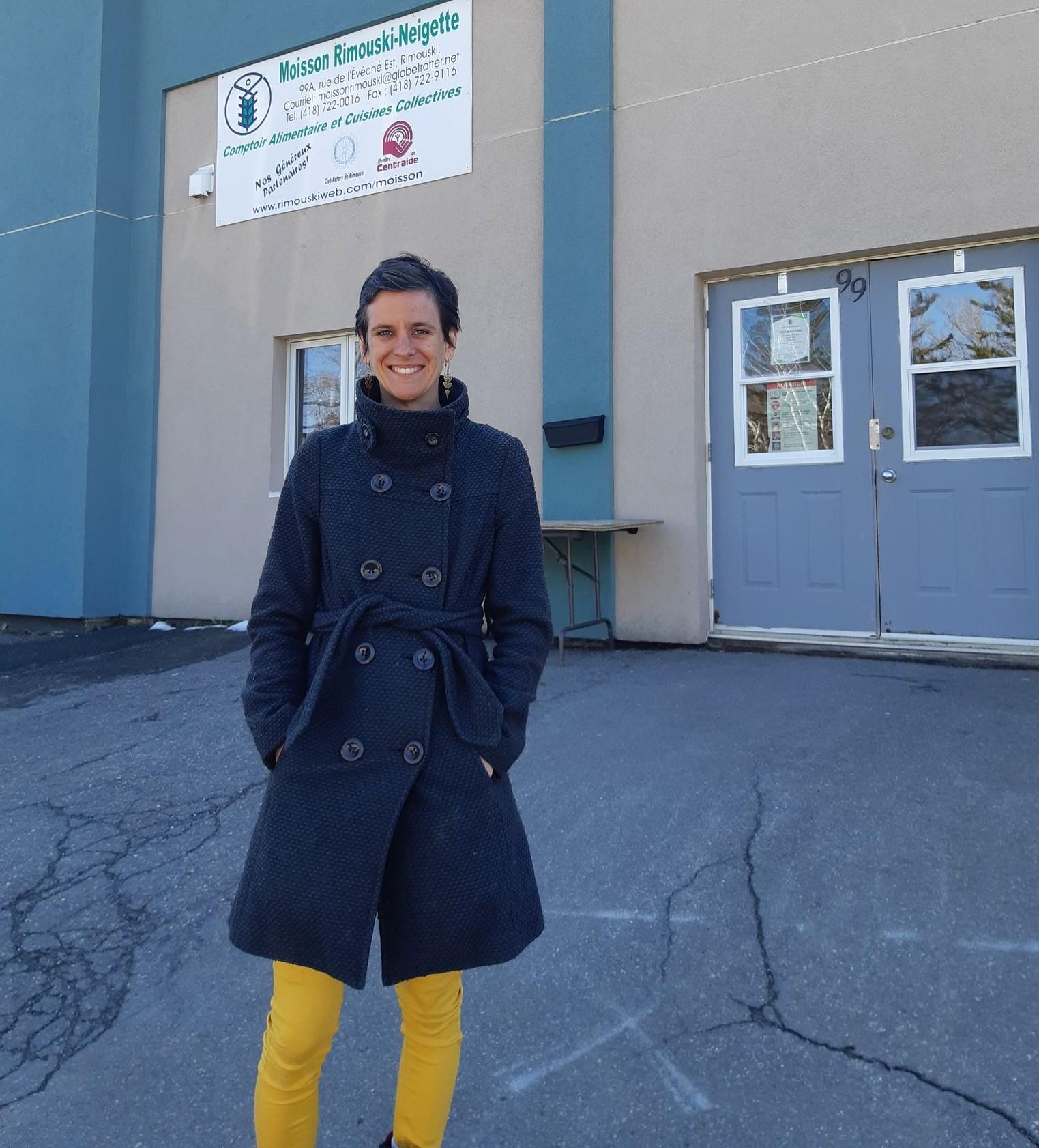 La nouvelle directrice générale de Moisson Rimouski-Neigette, Sophie Lajoie.