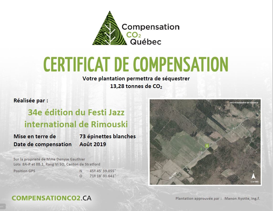 Le certificat de compensation des GES.