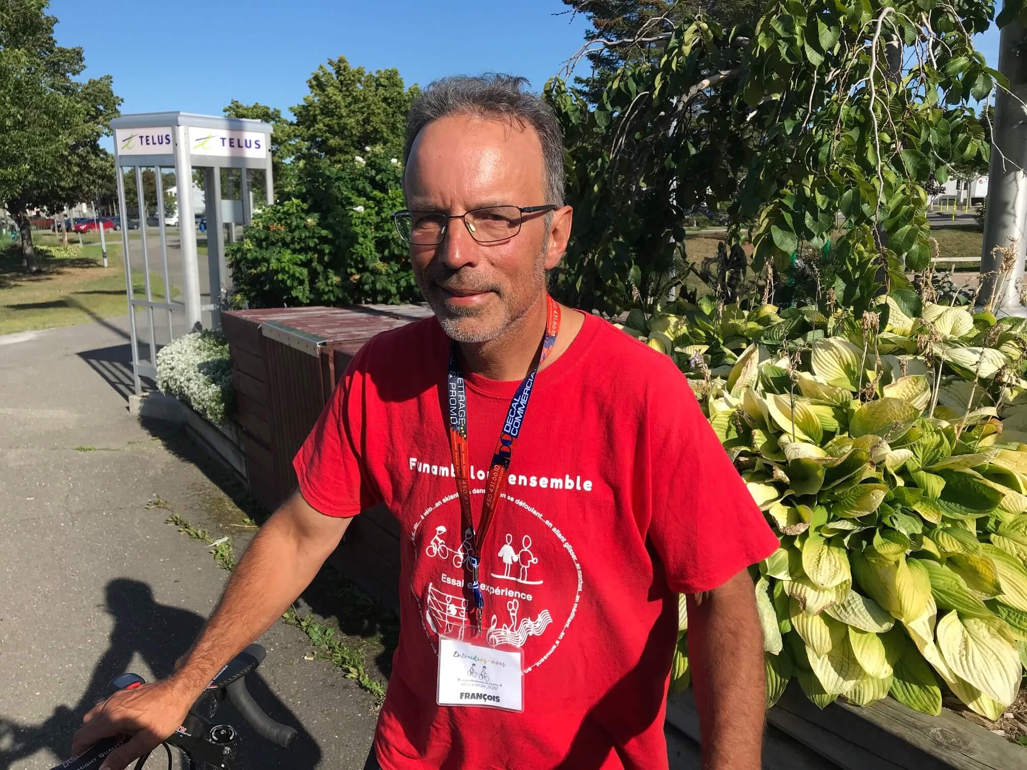 François Guérin, cycliste de défis.
