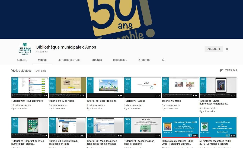 Bibliothèque Amos tutoriels vidéo