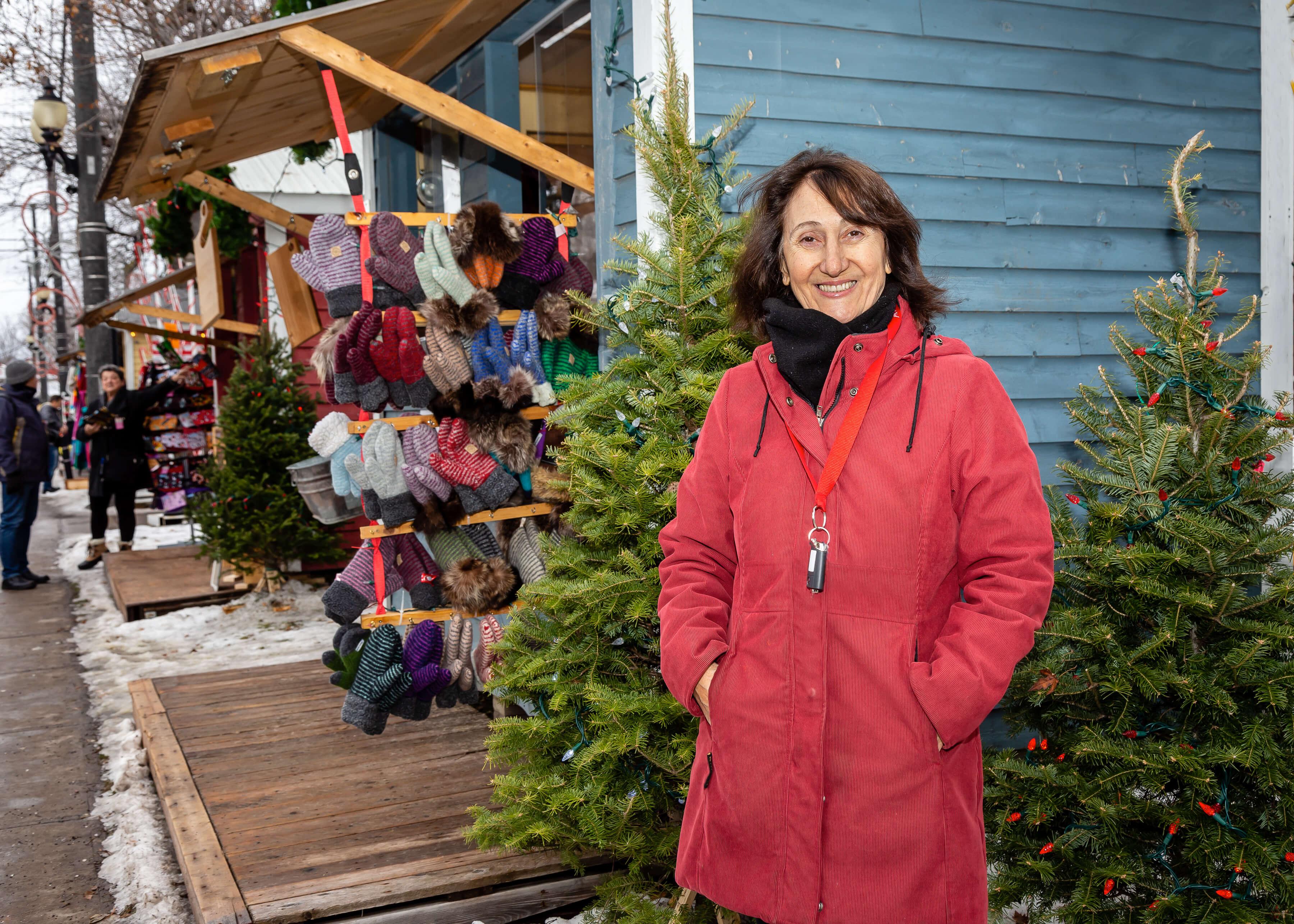 Agathe Sauriol marché de Noël