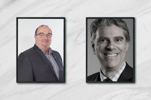 Francis St-Pierre, préfet de la MRC Rimouski-Neigette et Martin Beaulieu, président-directeur général de la SOPER.