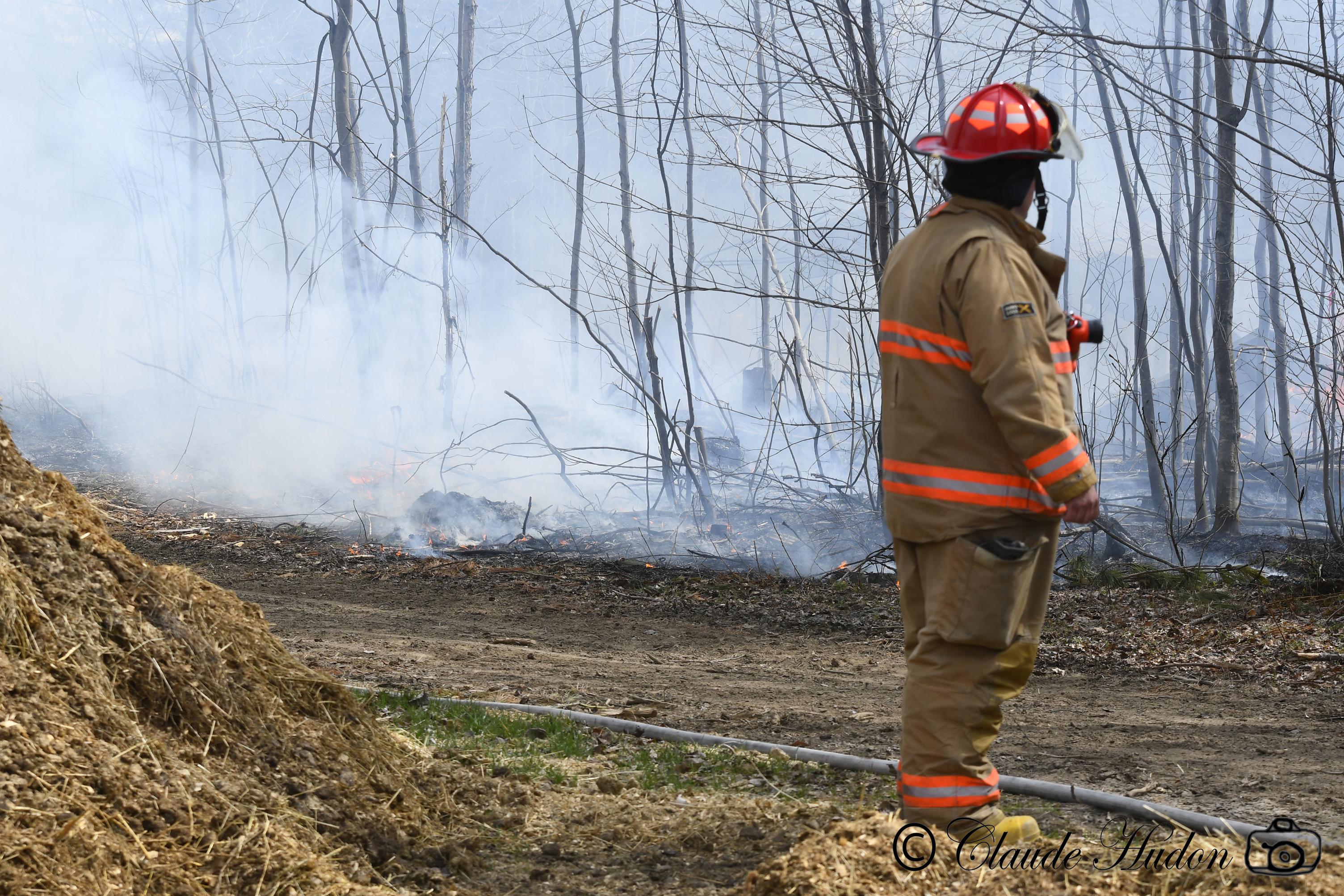 Incendie au Centre Équestre de la Savane