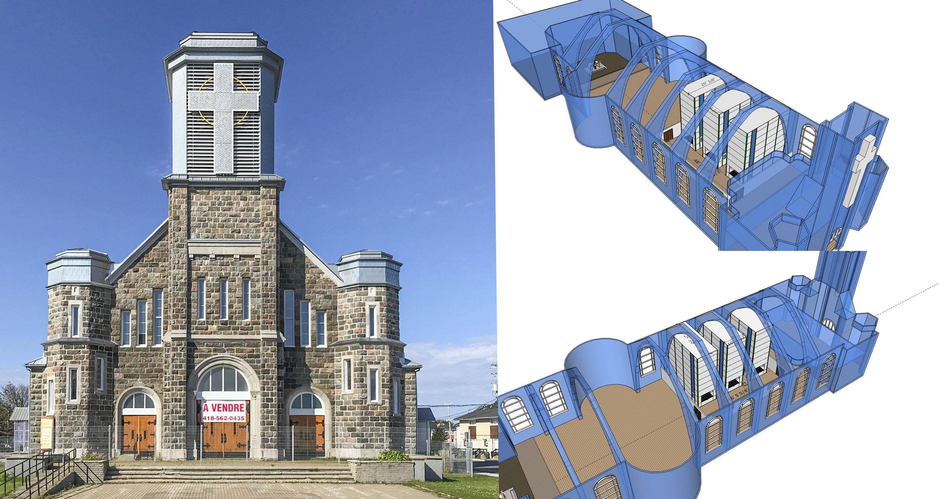 Église Saint-Jérôme Matane projet Inno-3B serres verticales culture maraîchère