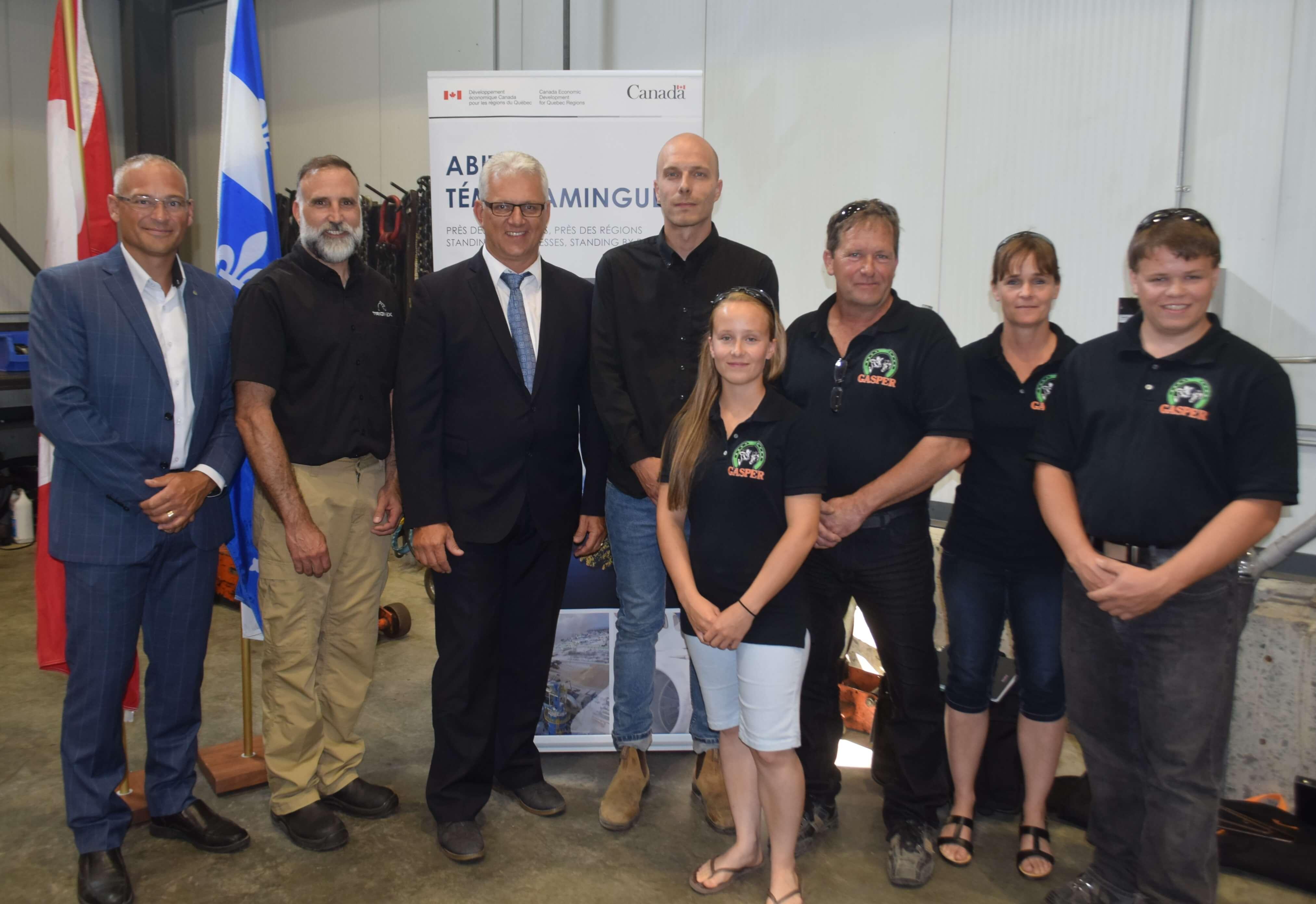 Ottawa épaule quatre entreprises de la MRC Abitibi