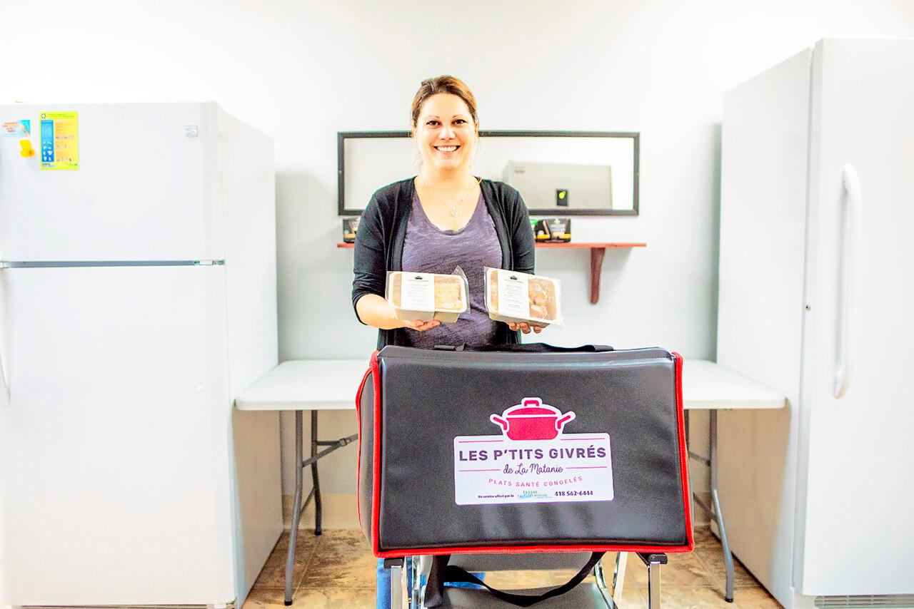 Sylvie Fortin Centre d'action bénévole région de Matane Les P'tits givrés service soutien alimentaire zones rurales