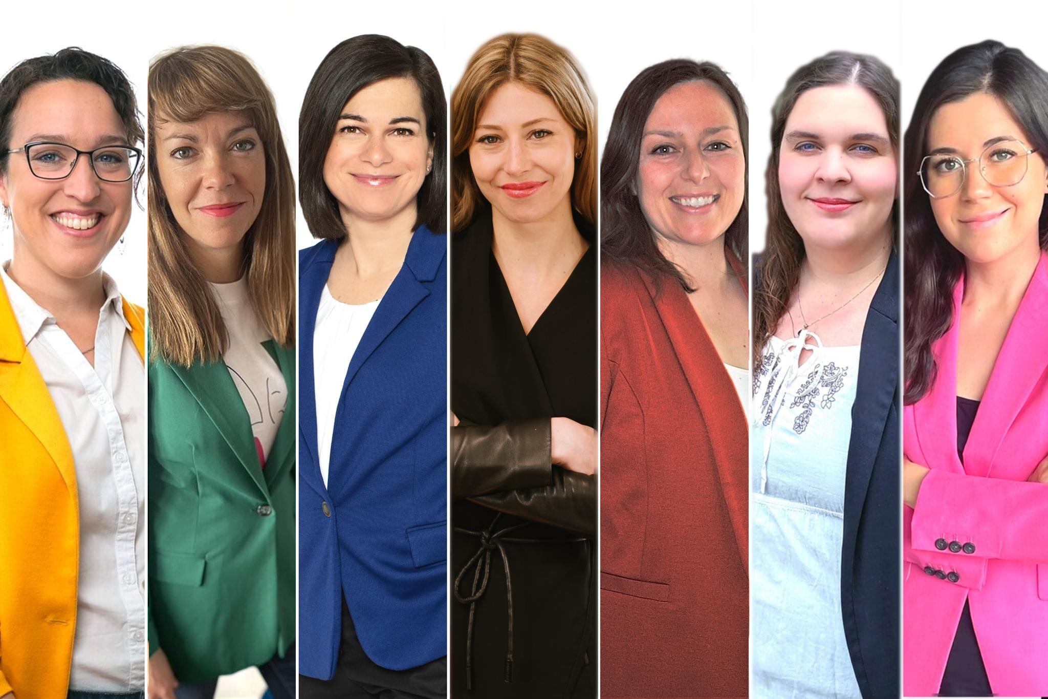 Sept femmes de la nouvelle génération candidates à la mairie.