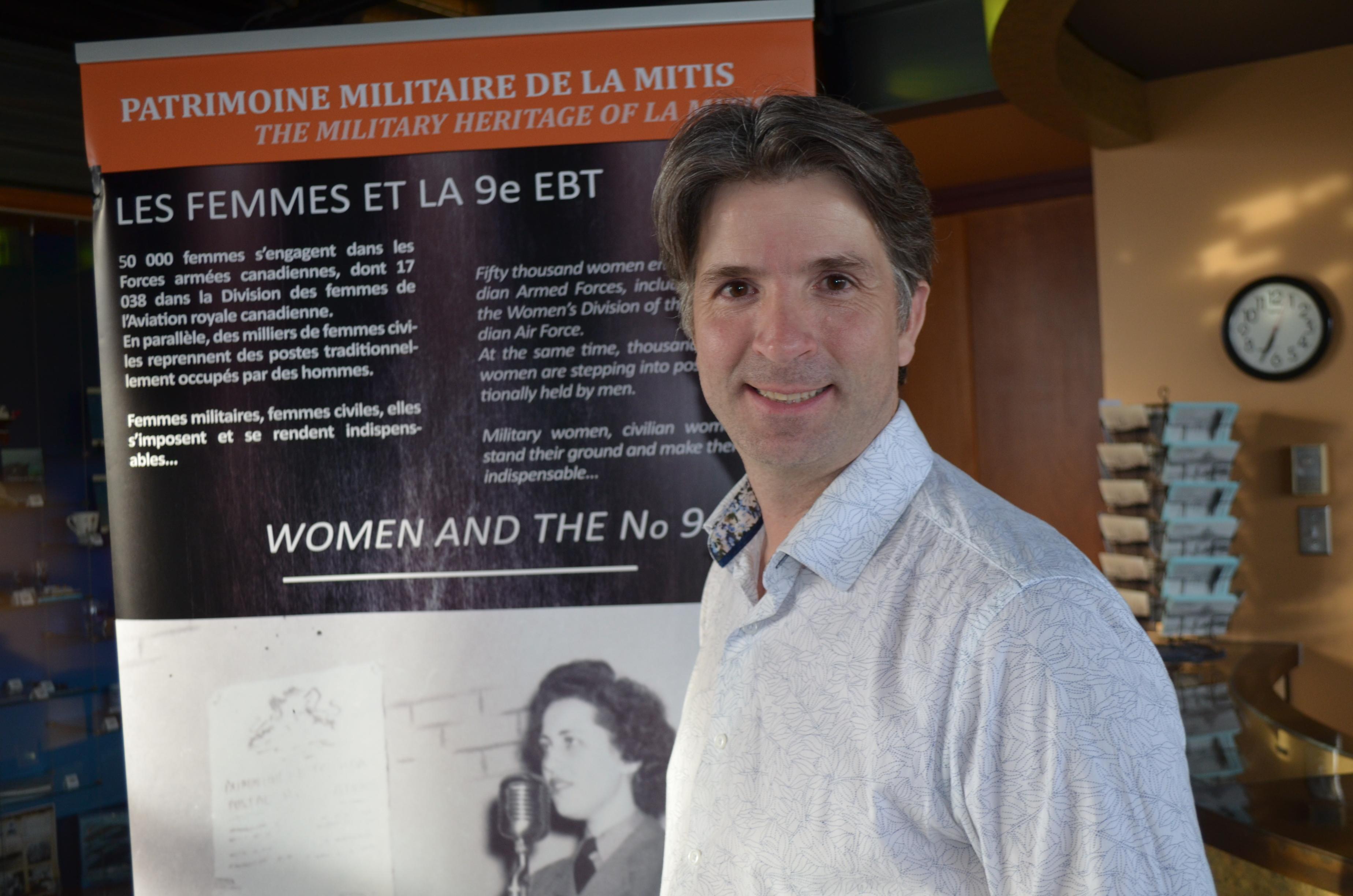 Jean-François Fortin, maire de Sainte-Flavie et président de l'organisme « Patrimoine militaire de La Mitis. »
