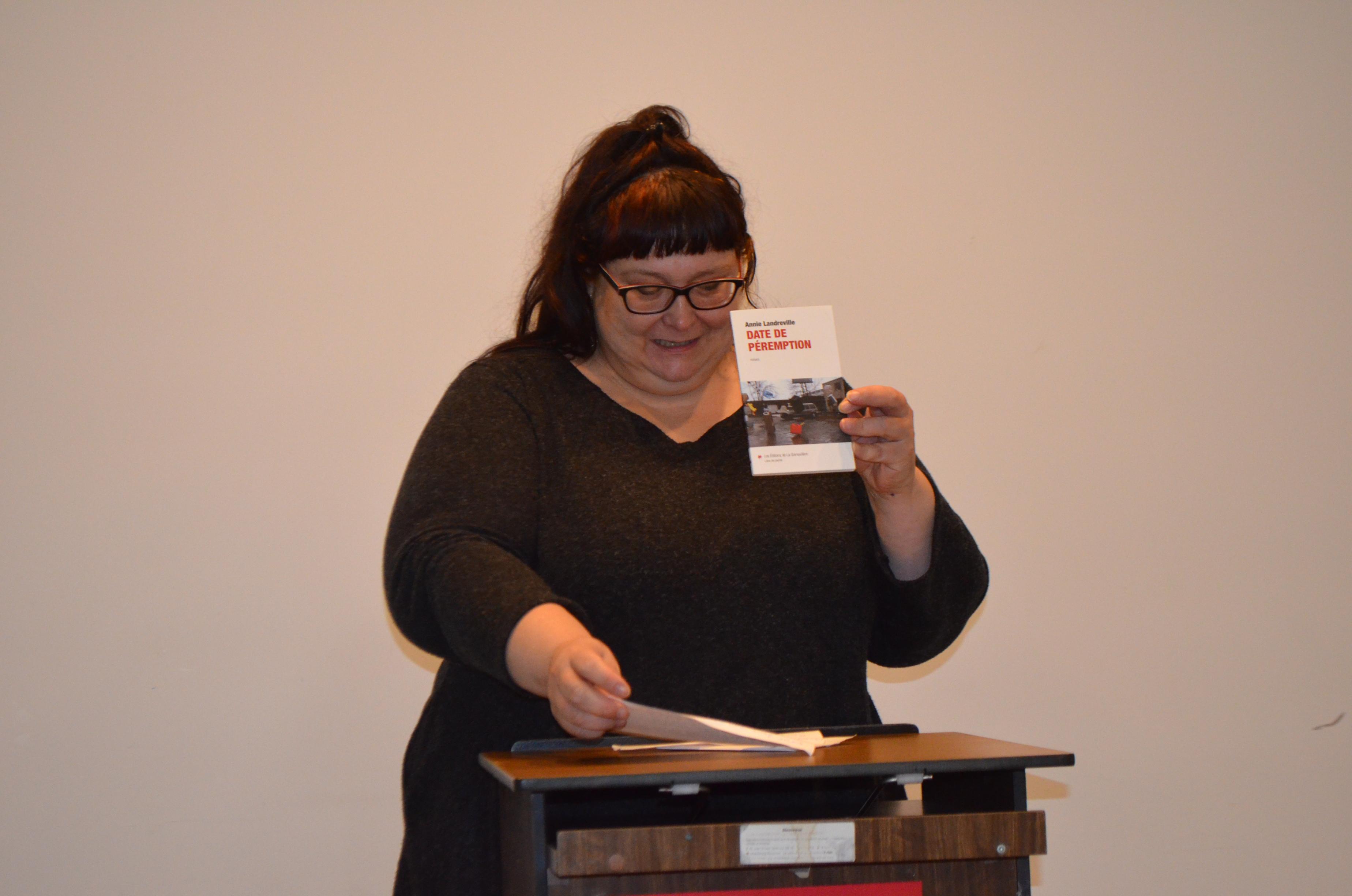 L'autrice Annie Landreville, lauréate du prix littéraire Jovette-Bernier 2019.